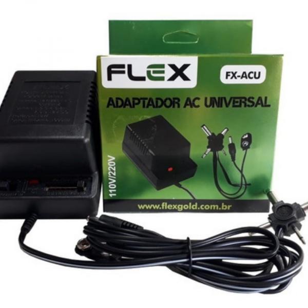 Fonte Universal Ac/dc 1000mah 12v Fx-acu Flex