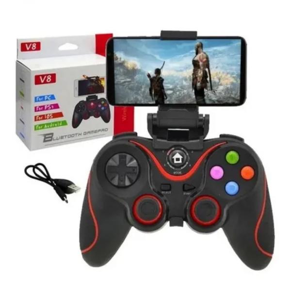 Controle Gamer Bluetooth V8